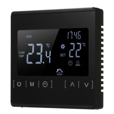 MH-1822 Electric Floor Heating Thermostat High-power Touch Screen Weekly Programming Temperature Controller Dual Control Smart Home Device