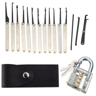 15pc Unlock Tool Kit for Beginners Professional Locksmiths