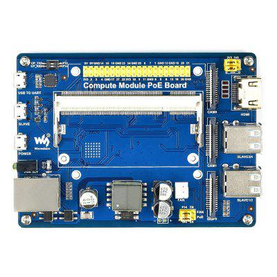 C2700 Computing Module Expansion Board Multiple Interfaces with POE Port CM3 / 3Lite 3 3+ for Raspberry Pi RPi