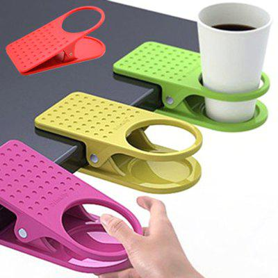 ABS Material Water Cup Holder Office Clip-on Large Clip (Random Color)