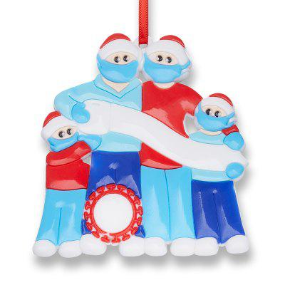 DIY Family Handwriting Face Mask Snowman Christmas Tree Hanging Pendant Decoration Ornaments