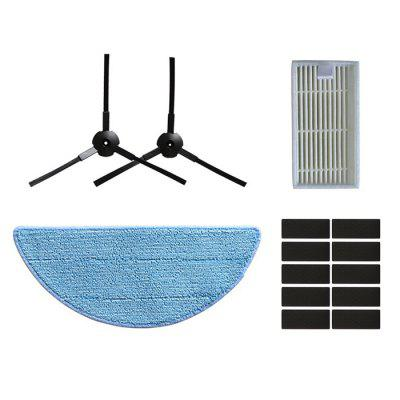 0350 Sweeping Robot Accessories Set Mopping Pad Side Brush Filter Side Brush Velcro for iLife V3 V5
