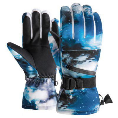 Men and Women Winter Warm Waterproof Ski Gloves Adult Outdoor Mountaineering Riding Couple Touch Screen Plus Velvet Motorcycle Glove