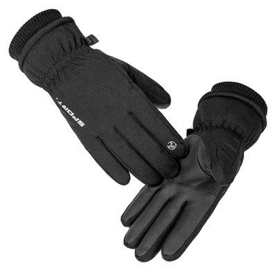 Q907 Male Outdoor Sports Cycling Gloves Cold-proof and Velvet Thick Winter Warm Skiing Glove