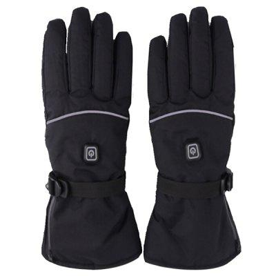 Rechargeable Battery Heating Outdoor Ski Gloves Three Gear Temperature Adjustment