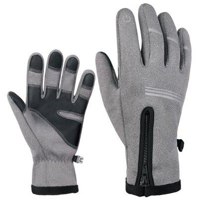 Cycling Gloves Winter Bicycling Windproof Shock Absorption and Warm Touch Screen Full-finger Glove Outdoor Skiing