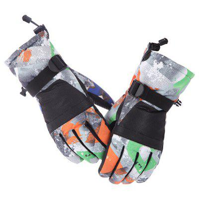 Parent-Children Touch Screen Ski Gloves Plus Velvet Thickened Anti-skid Waterproof Outdoor Mountaineering Men and Women Warm Riding Glove