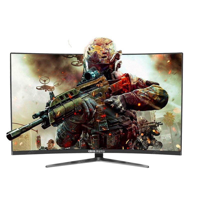 IDEADISPLAY YM27R 27-inch Gaming Computer Monitor 1500R Curved LCD HD Screen - BLACK