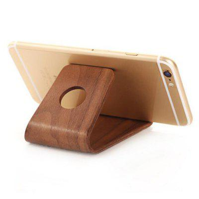 Solid Wood Multi-function Phone Stand Holder Tablet Charging Wooden Bracket Base