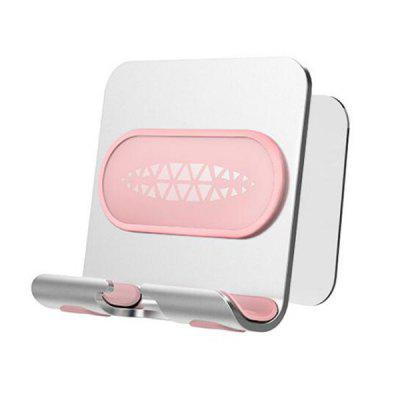 Alloy Material Smartphone Stand Multifunctional Punch-Free Wall Adhesive Phone Holder Storage Bracket
