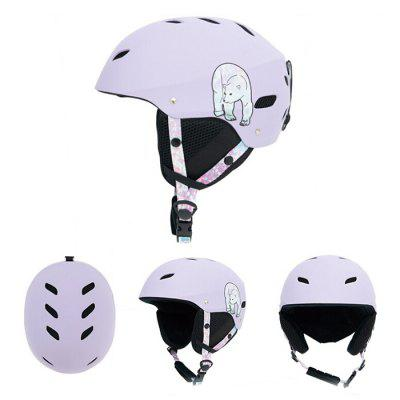 Unisex Ski Protective Helmet Adjustable Head Circumference Professional Outdoor Sports Protection Gear