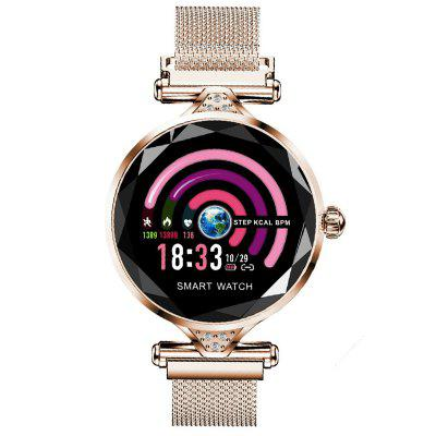 DT38 Smart Watch Fitness Tracker Female Physiological Period Detection Super Slim Body 1.3 inch IPS Full Touch Screen Family and Friends Movement Measurement Smartwatch умные часы сanyon cns sw75pp 1 22inches ips full touch screen aluminium plastic body ip68 waterproof multi sport mode with swimming mode compatibility with ios and android pink
