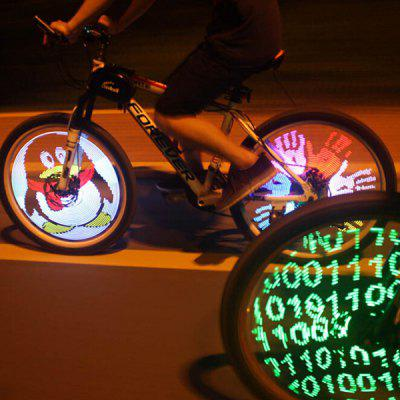 Colorful Bike Wheel Spoke Light Programmable Rechargeable Edition Bicycle Accessories