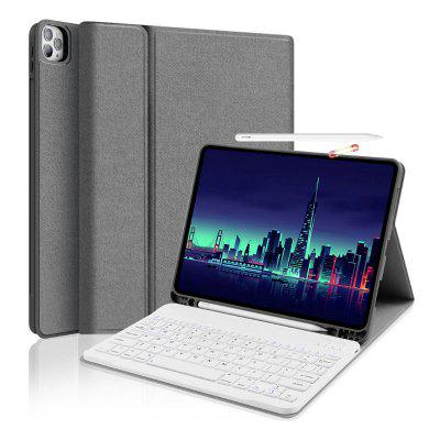 Wireless Bluetooth Tablet Keyboard with Protective Cover Pen Slot for iPad 12.9 inch 2020