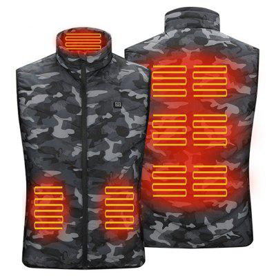 Smart 5 Zones Heating Camouflage Padded Vest for Men and Women