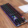 K200 Blue Switch Dust-proof Full-Key No Rush Marquee Business Gaming Real Mechanical Keyboard - DARK GRAY