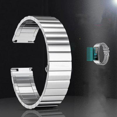 Metal Watch Strap Stainless Steel Butterfly Buckle Suitable for Huawei B6 16mm
