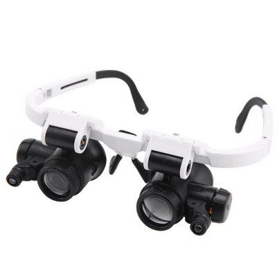 9892H-2 Magnifier Glasses 8 Fold 23 Fold Test Identification High Powered Timepiece with LED Light