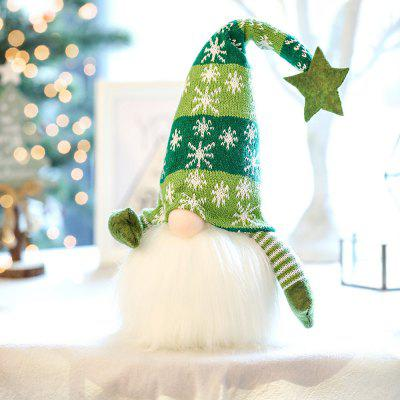 Christmas Decoration Luminous Dwarf Faceless Plush Doll Baby Children Gift Ornament