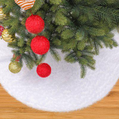 Christmas Tree Plush Skirt Pure White Long-haired Home Decoration