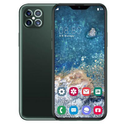 I12 Pro Smartphone MT6799 Quad Core 6.5 inch HD+ 2GB RAM + 32GB ROM Android 9.0 13MP + 32MP Cameras 4800mAh Battery Face ID Unlock