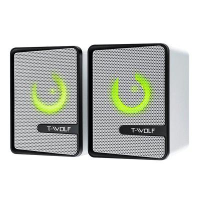 S3 Computer Speakers USB Notebook Light Emitting Phone Small Stereo Subwoofer 2PCS