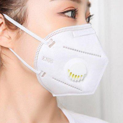 KN95 Mask 5 Ply Respirator Activated Carbone Valve Breathable Anti Dust Anti-fog Face 20PCS