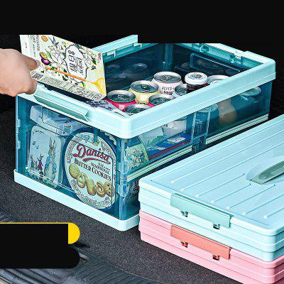 Storage Box 30L Transparent Vehicle Folding Collapsible Car Trunk
