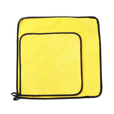 Car Coral Fleece Towel Thickened Water-absorbing Double-sided Wiping Cloth Cleaning Tool 30 x 60CM 7PCS