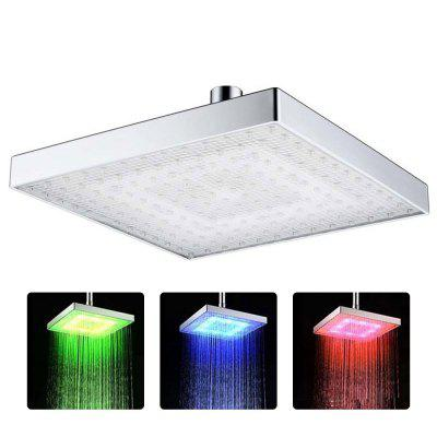 8030-C1 Color Changing Top Spray ABS Square LED Temperature Sensitive Three Shower Head