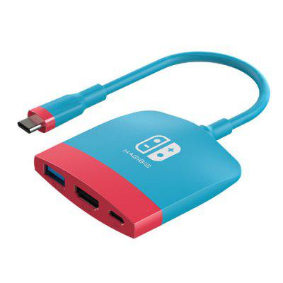 HAGIBIS SWC01 Portable TV Dock Converter for Nintendo Switch Docking Station USB-C to 4K HDMI USB 3.0 PD Charging NS Macbook Pro