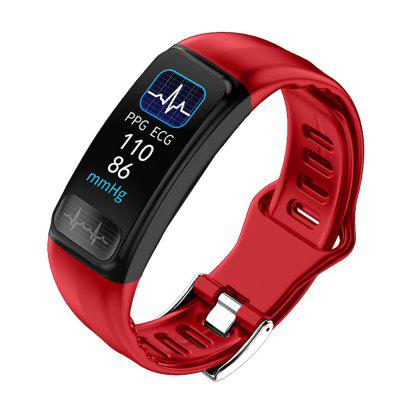 P12 Smart Sports Bracelet PPG + ECG Heart Rate Blood Pressure Monitoring Information Reminder IP67 Waterproof Wristband