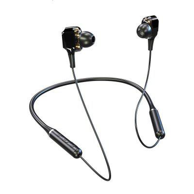 Lenovo QE66 Bluetooth 5.0 Wireless In-Ear Headphone Neck Halter Sports Earphones low cut halter leaf print bikini
