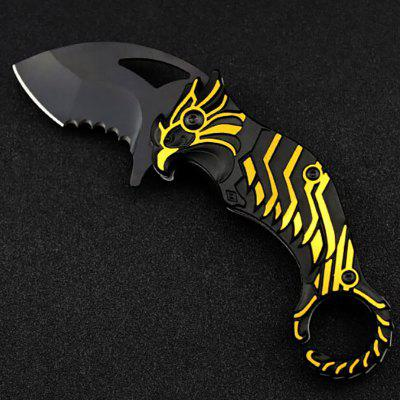 Outdoor Camping Tactical Knife Self-defense Tactics Multi-function Mini Folding Blade