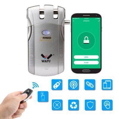 WF-010W WiFi Remote Control Smart Invisible Security Door Lock Tuya App (iOS / Android System) Anti-theft 433Mhz for Home Hotel Office Apartment