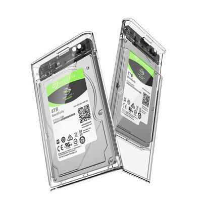 2552U3 USB3.0 SATA2.5 Transparent Mobile HDD Enclosure 2.5 inch Mechanical Gaming Solid State Hard Disk Box