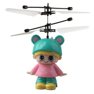 Cute Girl Induction Levitation Helicopter Children Charging Aircraft Toy