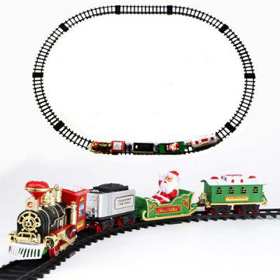 Christmas Toy Train Simulation Classical Steam Car Lighting Remote Control Edition