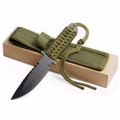 Outdoor Tactical Wild Wilderness Survival Hunting Knife Mini Portable Multi-function Straight Blade