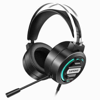 Lenovo H401 Game Headset 7.1 Stereo MIC Surround Sound E-sports RGB Headphone for Laptop Gaming Overwatch Pugb Dota