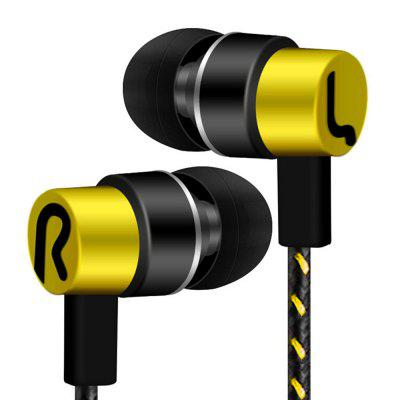 Фото - Universal Stereo In-Ear Bass Headphone 3.5mm Wired Earphones for Mobile Bluetooth Music kz edr1 special edition gold plated shell headphones with microphone 3 5mm hd hi fi in ear monitor bass mobile phone stereo earphones