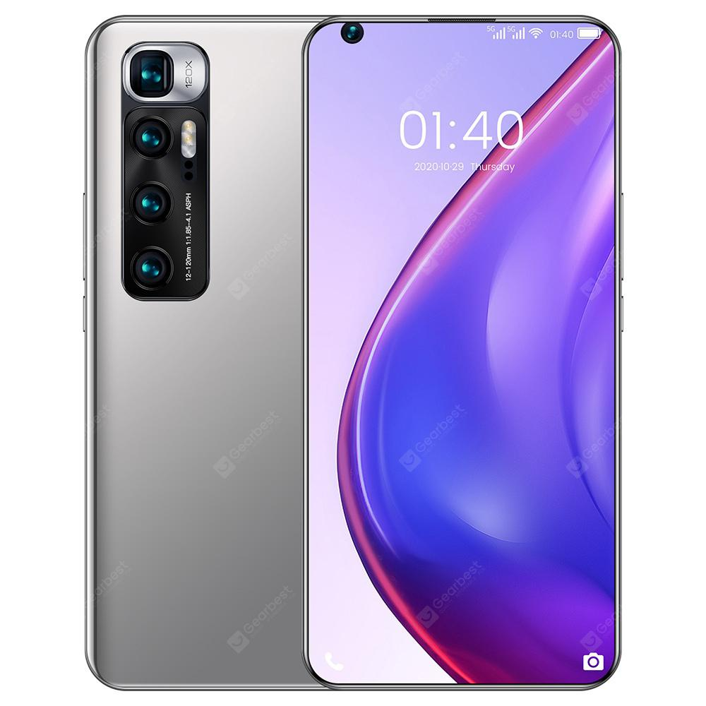 M10 Ultra Smartphone MT6889 Octa Core 7.2 inch 2GB RAM 32GB ROM Android 9.1 8MP + 12MP Cameras 4800mah Battery Face ID Fingerprint Recognition with WiFi + BT + FM + GPS