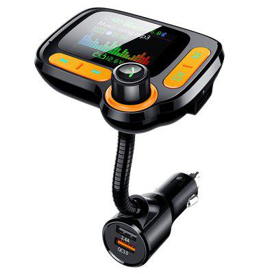C86 Color Screen Car MP3 Player Multi-function FM Transmitter Bluetooth Receiver
