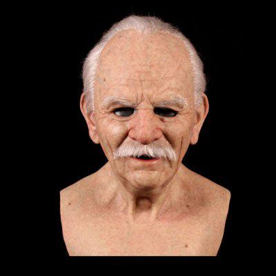 Facial Decoration Christmas Cosplay Rubber Old Man Mask Scary Latex Mask Horror Head Decoration Adult Man Woman