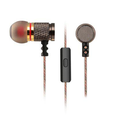 Фото - KZ EDR1 Special Edition Gold-plated Shell Headphones with Microphone 3.5mm HD HI-FI In-ear Monitor Bass Mobile Phone Stereo Earphones kz zst x earphones circle iron headphones inflator hifi headset tape microphone call game headphones