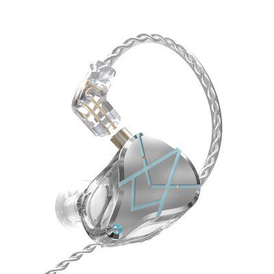 Фото - KZ KZ ASX In-ear Headphone 20 Unit Dynamic Iron Noise Canceling HiFi Phone Earphones with Microphone Cable Control kz zst x earphones circle iron headphones inflator hifi headset tape microphone call game headphones