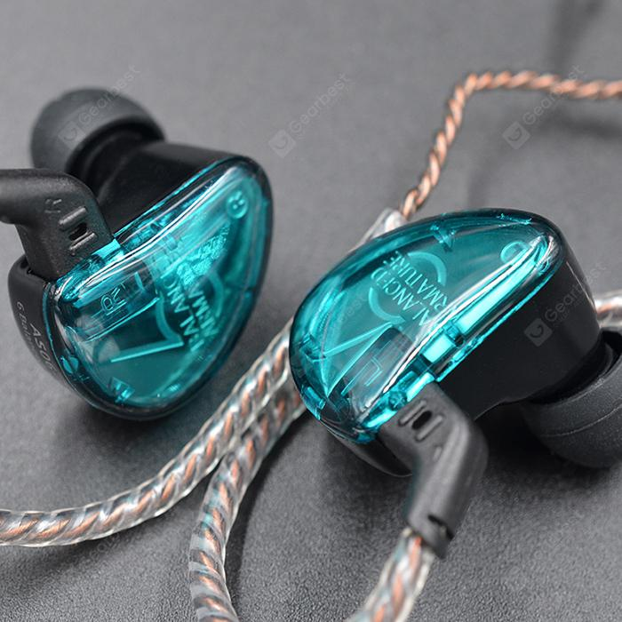 """""""KZ KZ AS06 Moving Iron Headphone 6 Unit Balance Moving Iron In-Ear Music Sports Wire Control Universal Computer Earphones"""" 3"""