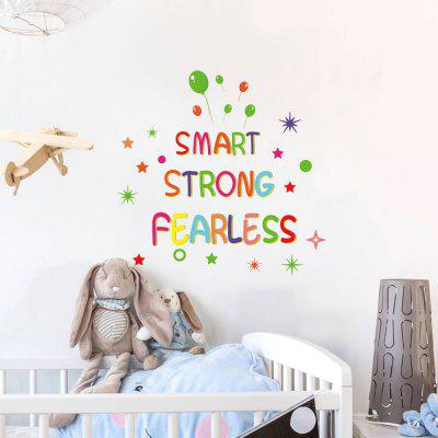 MUPH1007 Cartoon Color English Letters Children House Home Personality TV Background Wall Removal Sticker