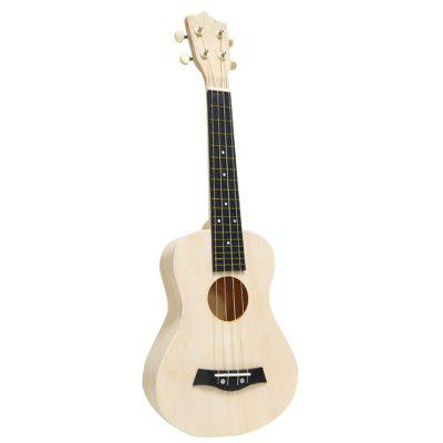 DIY Small Guitar Assembly 21 Inch Ukulele Handmade Material Bag Wooden Painting