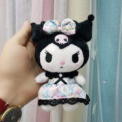 Cartoon Plush Toy Doll Kuromi Melody Flower Skirt Small Pendant